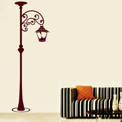 Lamp Post Wall Sticker Decal-Small-Burgundy