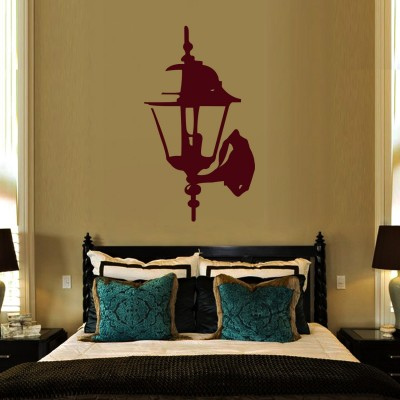 Lamp Wall Wall Sticker Decal-Small-Burgundy