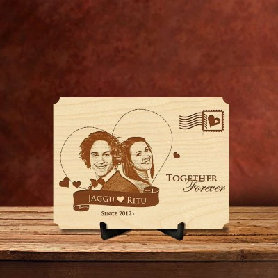 Personalized Together Forever Postcard