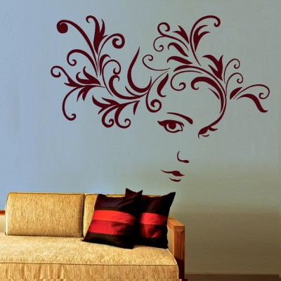 Beautiful Eyes Wall Sticker Decal-Small-Burgundy