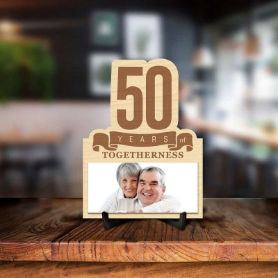 Personalized 50 Years Photo Frame