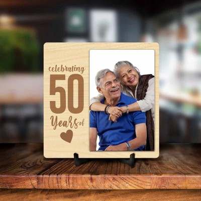 Personalized 50 Years Anniversary Photo Frame