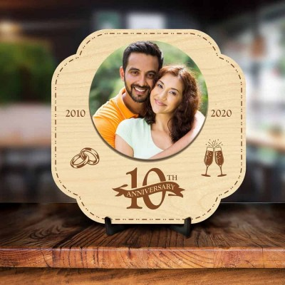 Personalized 10th Anniversary Engraved Photo Frame