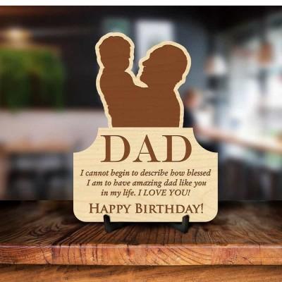 Dad Birthday Engraved Photo Frame