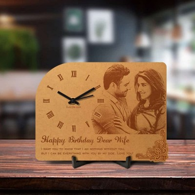 Personalized Birthday Engraved Table Clock Style 1