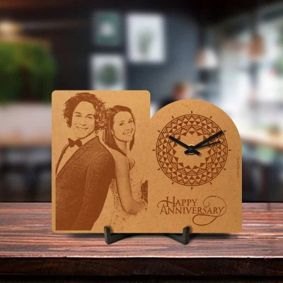 Personalized Anniversary Engraved Table Clock Style 2