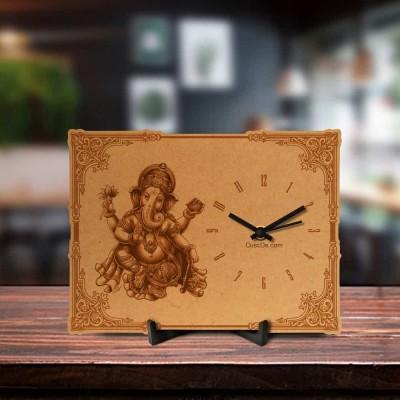 Ganesha Engraved Table Clock