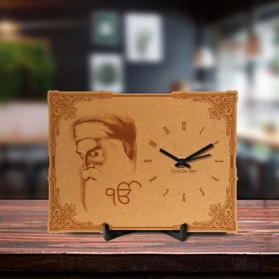 Waheguru Ji Engraved Table Clock