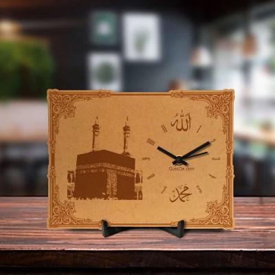 Mecca Sharif Engraved Table Clock
