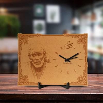 Sai Baba Engraved Table Clock