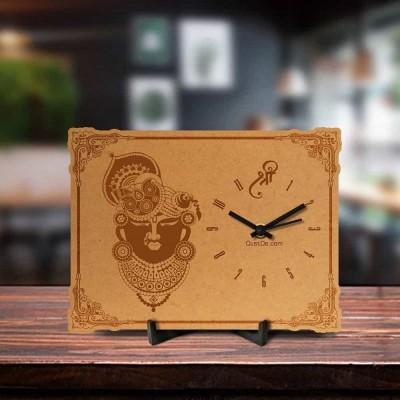 Shreenath Ji Engraved Table Clock