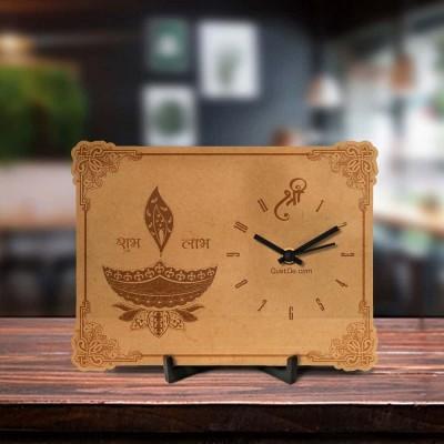 Shubh Dipawali Engraved Table Clock
