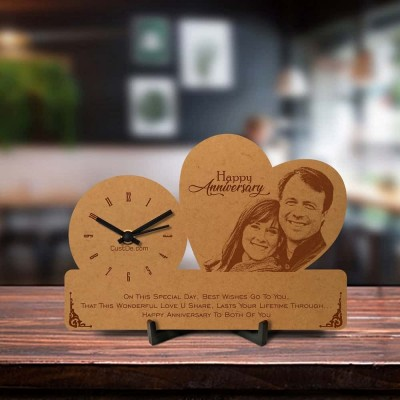 Personalized Anniversary Engraved Table Clock Style 3