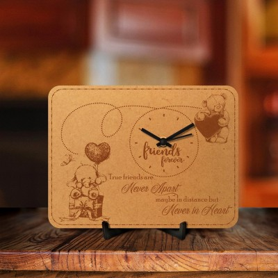 Friends Forever Engraved Table Clock