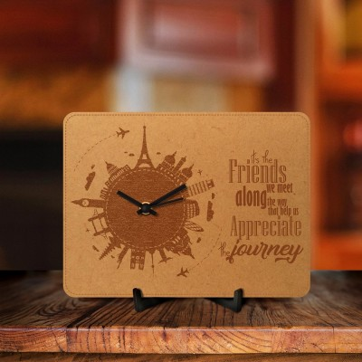 Appreciate Journey With Friends Engraved Table Clock
