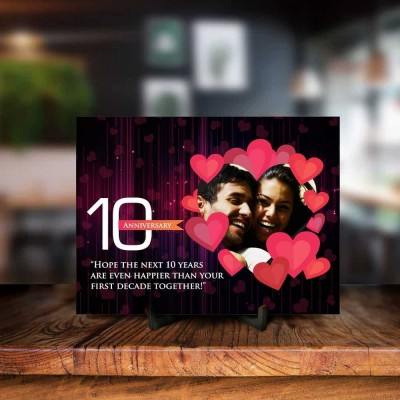 Personalized 10th Anniversary Printed Photo Frame