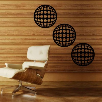 Abstract Illusion-I Wall Panel Set of 3 Panels