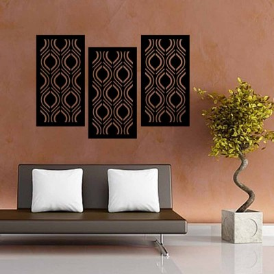 Abstract Leaf Ornament Wall Panel Set of 3 Panels