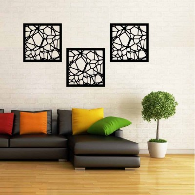 Abstract Cut-out Wall Panel Set of 3 Panels