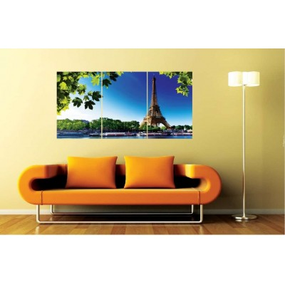 Effiel Tower Set of 3 Wall Mounted Panels