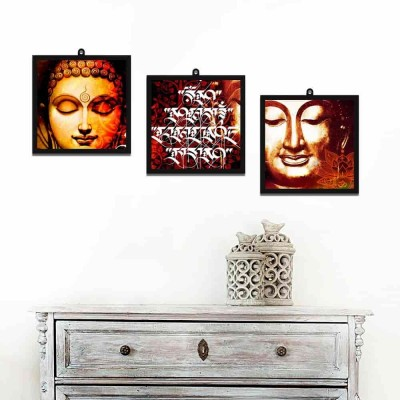 Buddha With Quote Set Of 3 Wall Art Panels