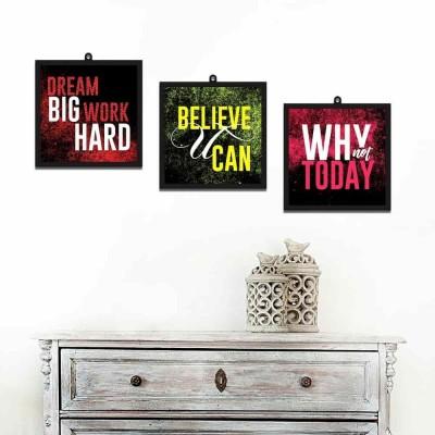 Dream Quotes Set Of 3 Wall Art Panels