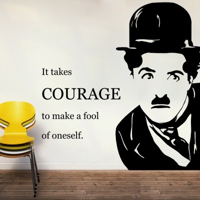 Charlie's Quote Wall Sticker Decal-Small-Black