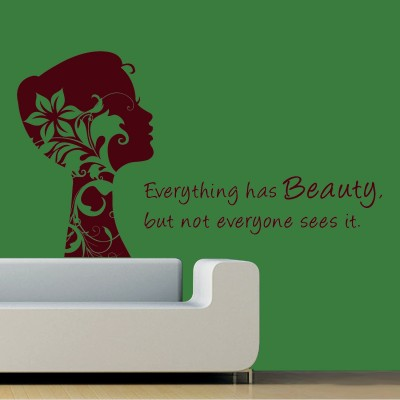 Beauty Quote Wall Sticker Decal-Small-Burgundy