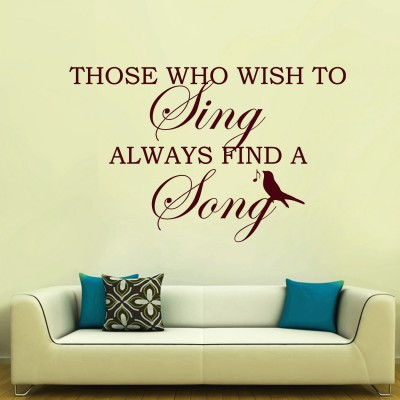 Music Quote Wall Sticker Decal-Small-Burgundy
