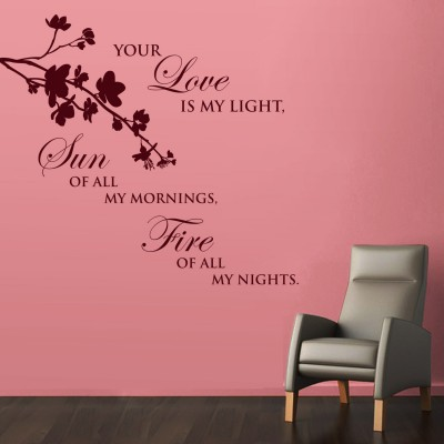 Love Is My Light Wall Sticker Decal-Small-Burgundy