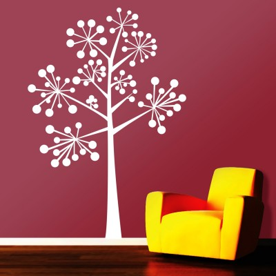 Ball Tree Wall Sticker Decal-Small-White