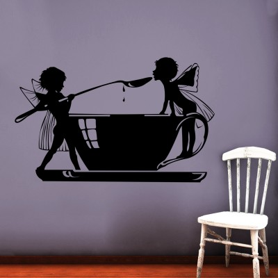 Angel's Feast Wall Sticker Decal-Small-Black