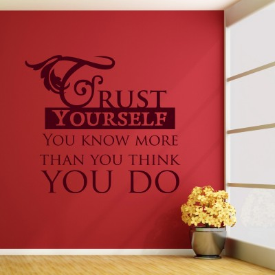Trust Yourself Wall Sticker Decal-Small-Burgundy