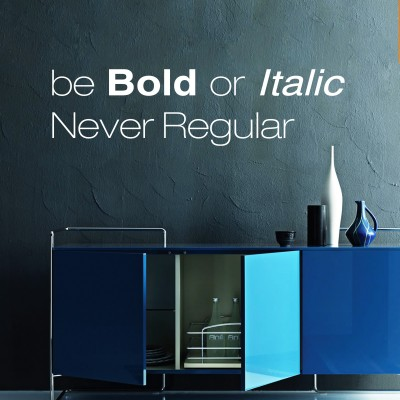 Be Bold Wall Sticker Decal-Small-White