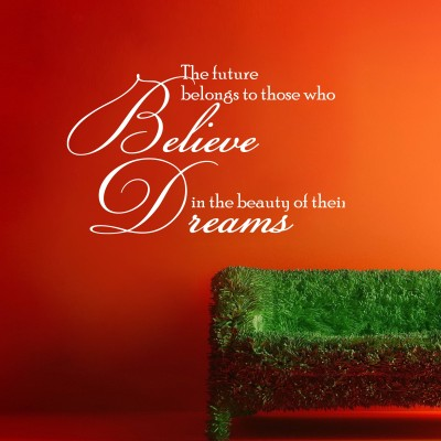 Believe In Your Dreams Wall Sticker Decal-Small-White