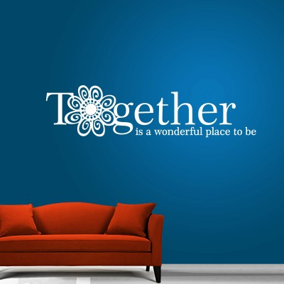 A Wonderful Place Two Wall Sticker Decal 2-Small-White