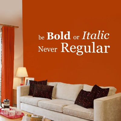 Be Bold Two Wall Sticker Decal 2-Small-White