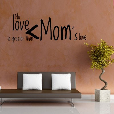 Moms Love Two Wall Sticker Decal 2-Small-Black