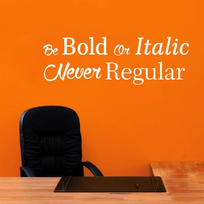 Be Bold Three Wall Sticker Decal 3-Small-White