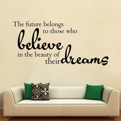 Believe In Your Dreams Three Wall Sticker Decal 3-Small-Black