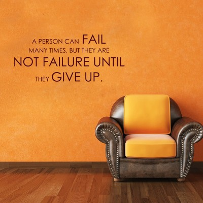 A Person Can Fail Wall Sticker Decal-Small-Burgundy