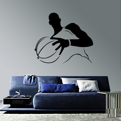 Basketball Player Wall Sticker Decal-Small-Black