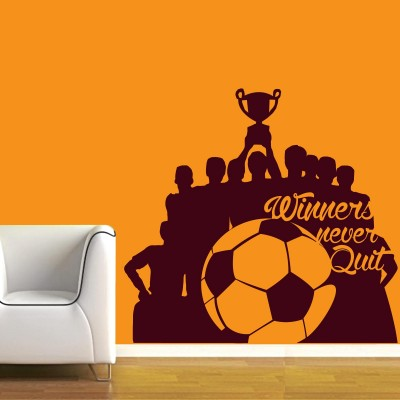 Soccer World Cup Wall Sticker Decal-Small-Burgundy