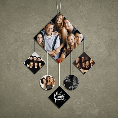 Diamond 6 Pic Personalized Photo Wall Hanging