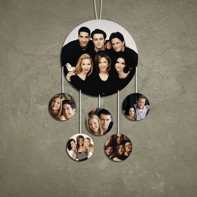 Circle 6 Pic Personalized Photo Wall Hanging