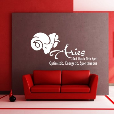 Aries Wall Sticker Decal-Small-White