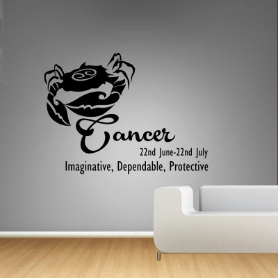 Cancer Wall Sticker Decal-Small-Black
