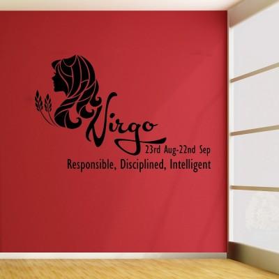 Virgo Wall Sticker Decal-Small-Black