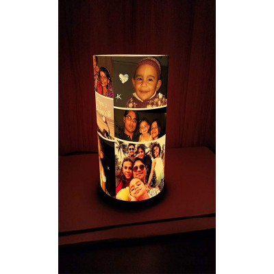 Personalized Anniversary/Birthday Acrylic Cylindrical Lamp