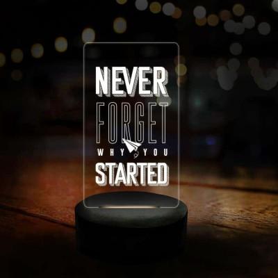 3D LED Never Forget Motivational Lamp